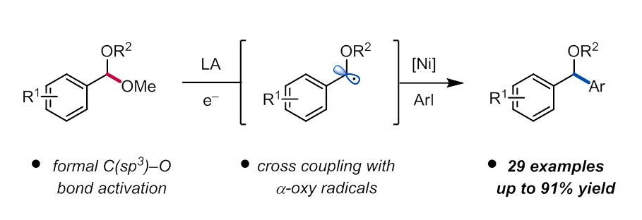 Dialkyl Ether Formation via Nickel-Catalyzed Cross Coupling of Acetals and Aryl Iodides